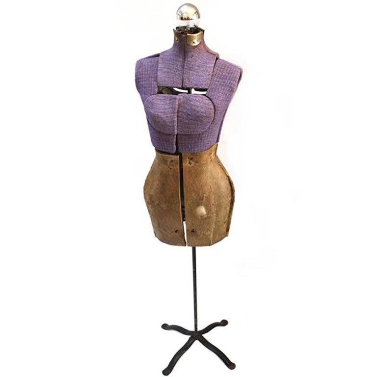 Vintage Purple Dress Form Lamp At 1stdibs