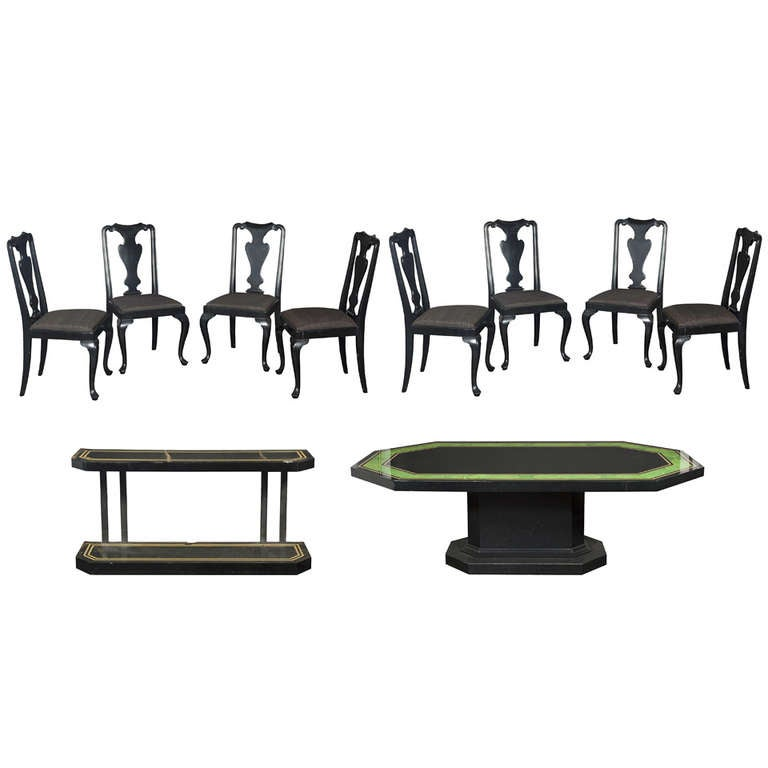 maison jansen dining room furniture 1950s at 1stdibs