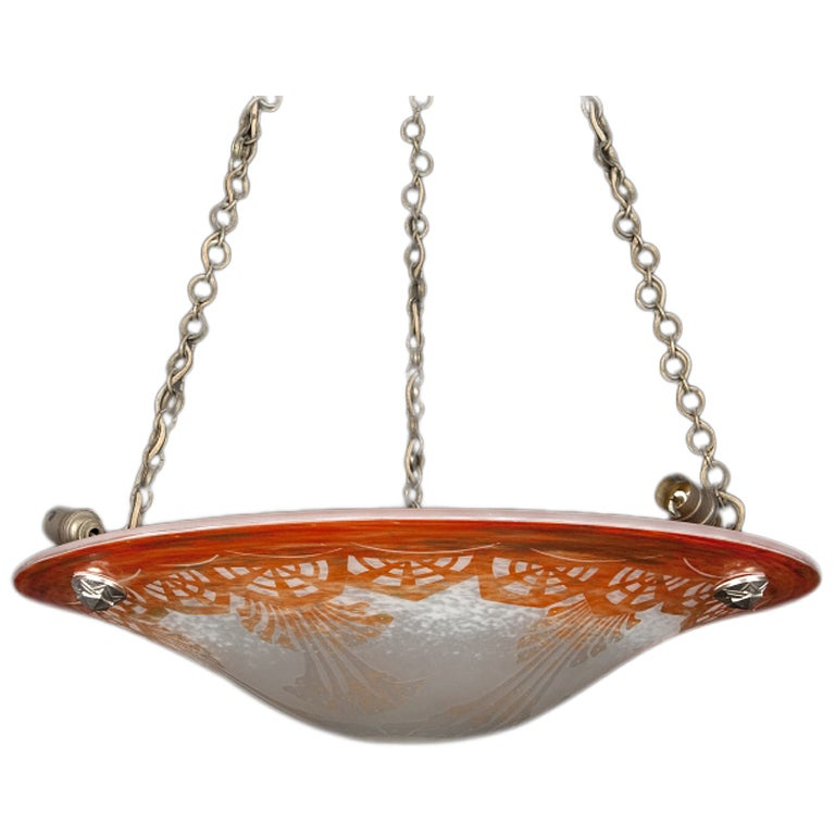 Le Verre Francais Large Ceiling Light At 1stdibs