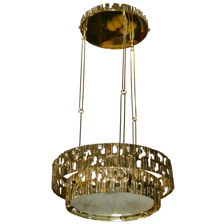 Angelo brotto style chandelier edited by esperia circa 1970 for sale at 1stdibs - Circa lighting chandeliers ...