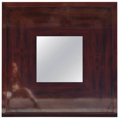 Wall Mirror by Giorgetti in Mahogany, circa 1980 Italy