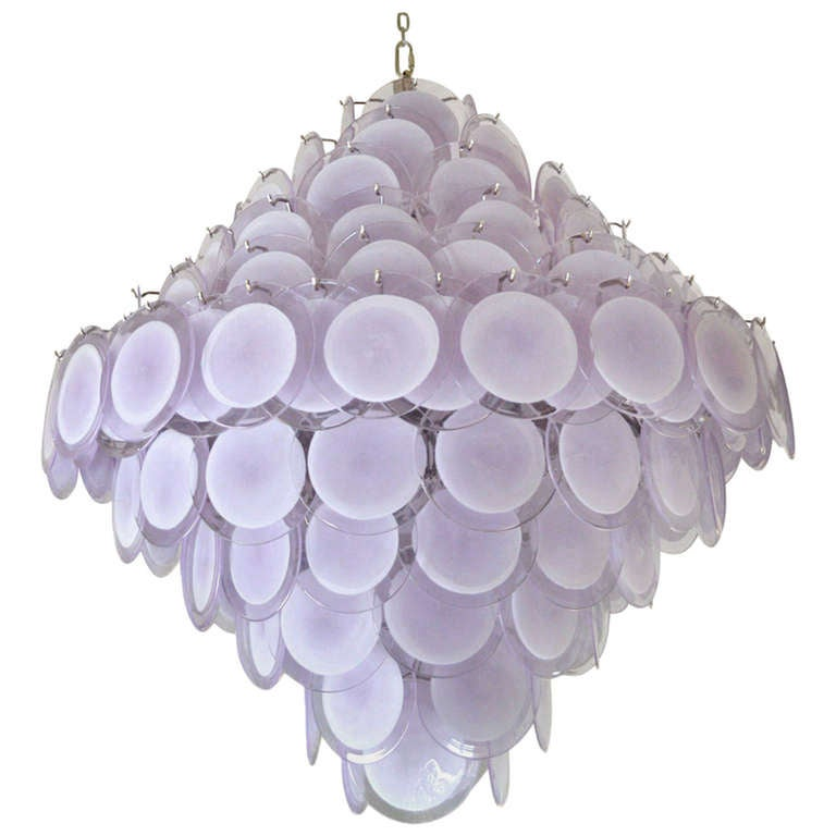 Gino Vistosi Murano Glass Chandelier Circa 1970 Italy For