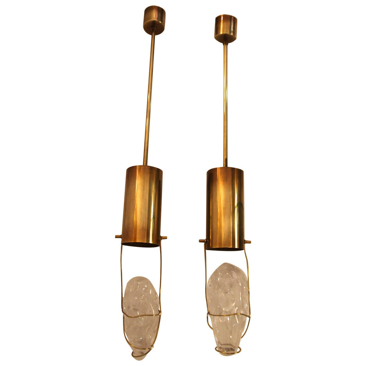 Angelo Brotto, Esperia Edition Pair of Pendants, circa 1970 Italy