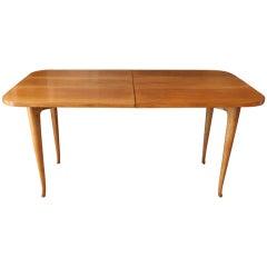 Gio Ponti Table, cherry wood, circa 1970.