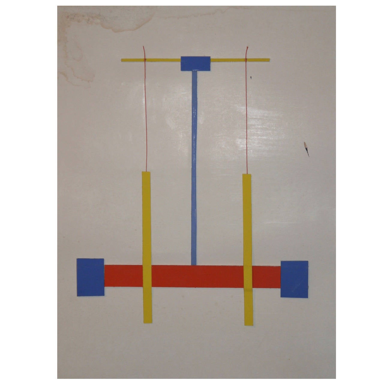 Painting by Albert Chubac, Wood Collage, Signed, circa 1980