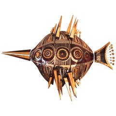 "Georges Pelletier, ""Fish"" Sconce, Signed, circa 1980, France"