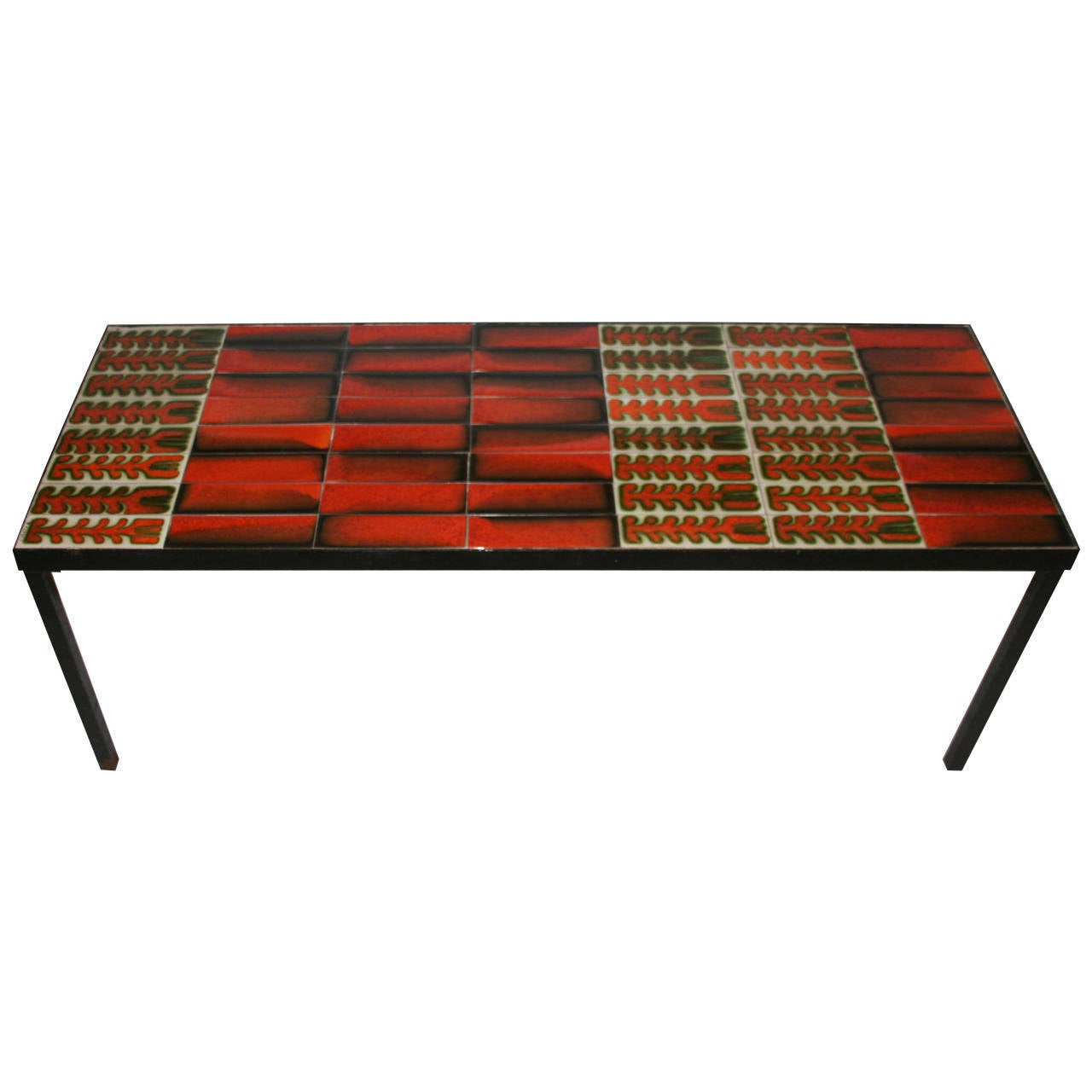 Roger Capron Signed Ceramic Coffee Table, circa 1970 France