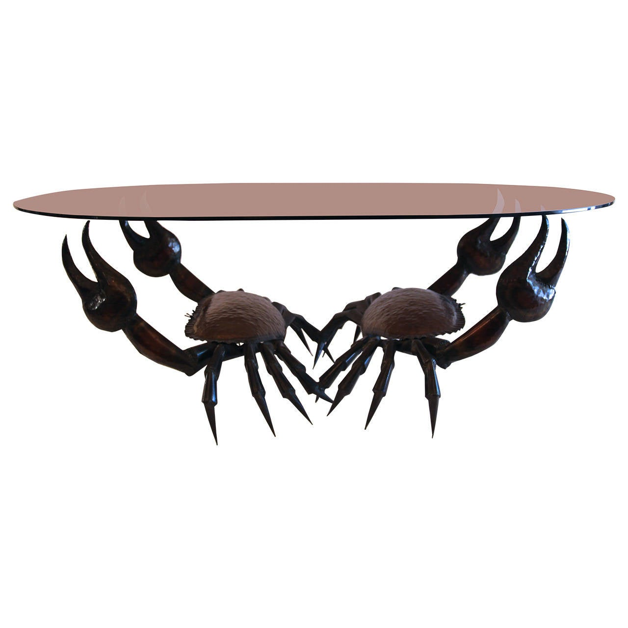 """""""Crabs"""" Coffee Table, Sculpture Volume Welder Copper, France, circa 1955 For Sale"""