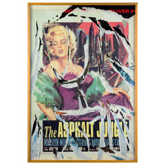 Mimmo Rotella, Marilyn Collage, Painting, Italy, 1990, Signed