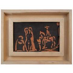 Pablo Picasso & Atelier Madoura, Personnage et Cavaliers, 1968, France.