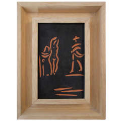 Femme et Toreador stamped and marked Edition Picasso/Madoura.