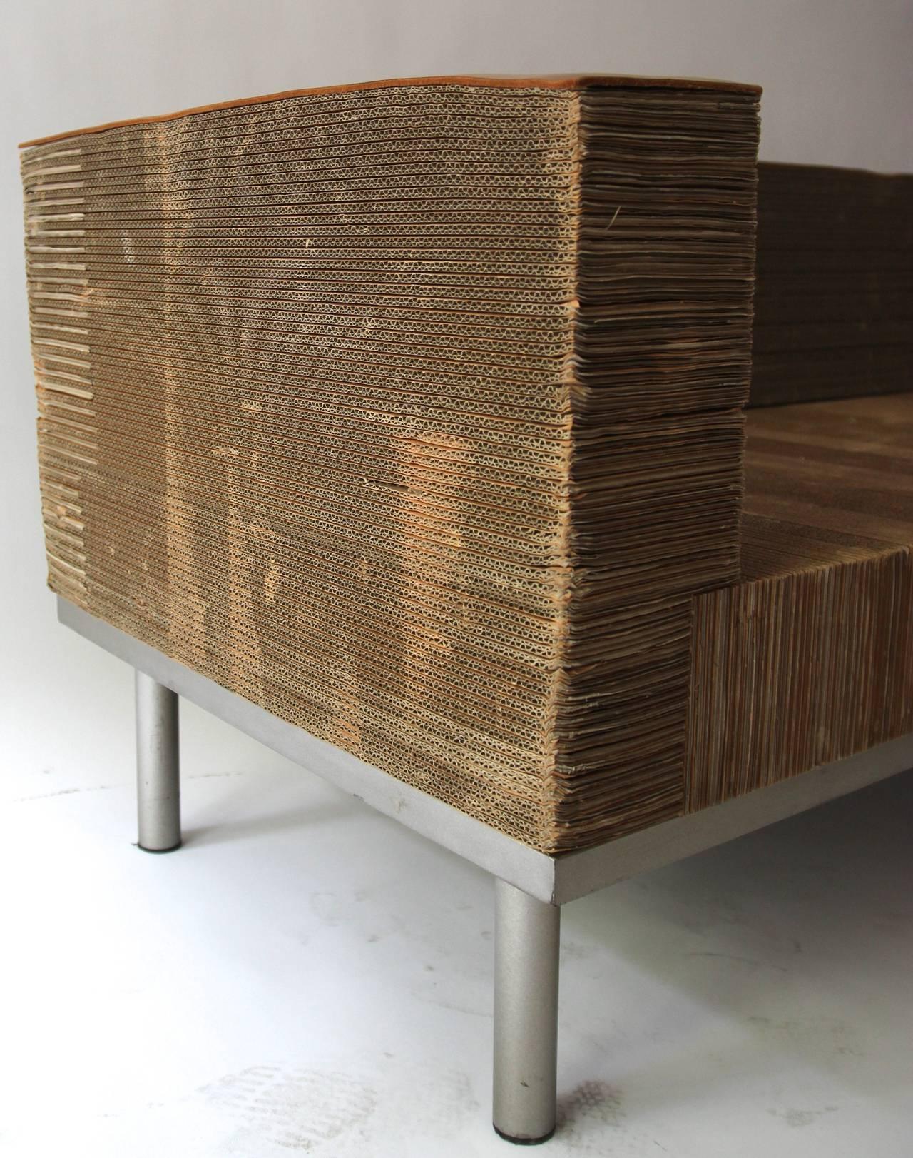 Fernando And Humberto Campana Papel Sofa Cardboard Circa 2000 Italy For Sale At 1stdibs