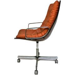 Raphael (1912-2000) Armchair, plexiglass, metal and tissue, circa 1970, France.