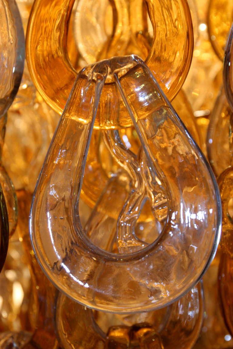 Mazzega style, Murano Glass chandelier, circa 1980, Italy. For Sale 1