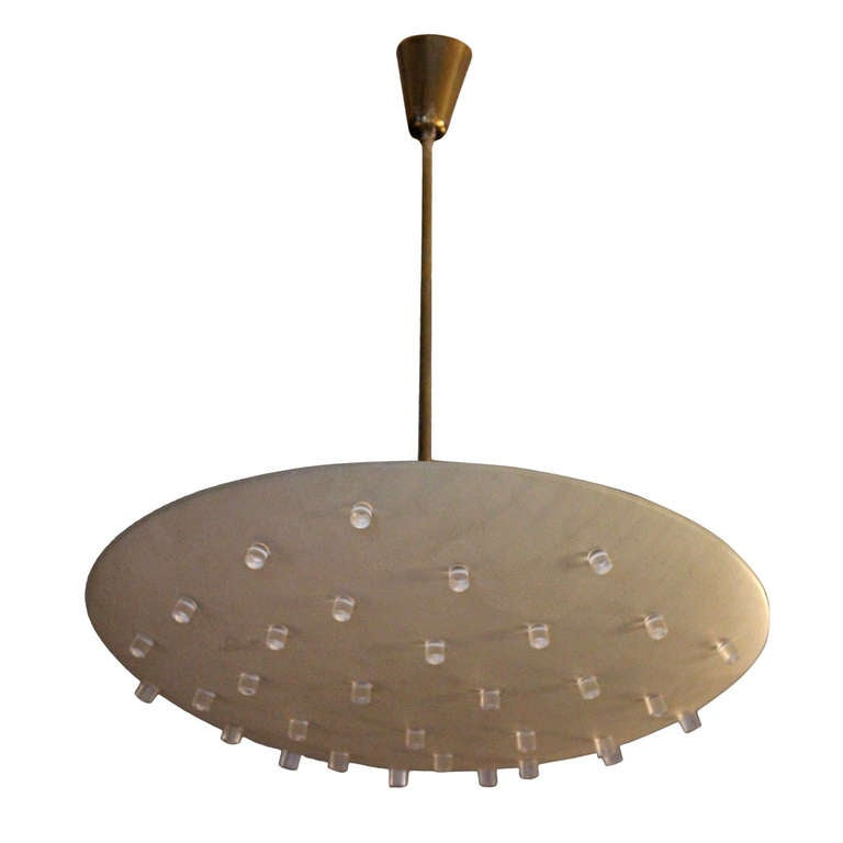 Chandelier In The Style of Angelo Lelli, Arredoluce Production, circa 1970. For Sale
