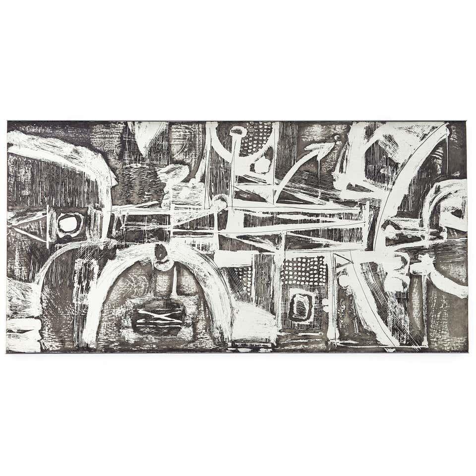 Zinc Panel by Nerone Giovanni Ceccarelli, 1974 for sale at