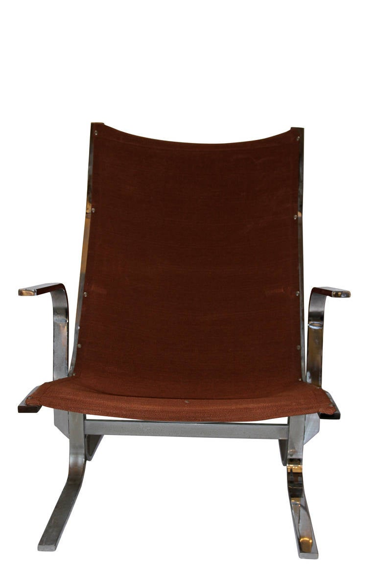 Mid-Century Modern Ingmar Relling (1920-2002), pair of Armchairs, Sweden, Circa 1970 For Sale