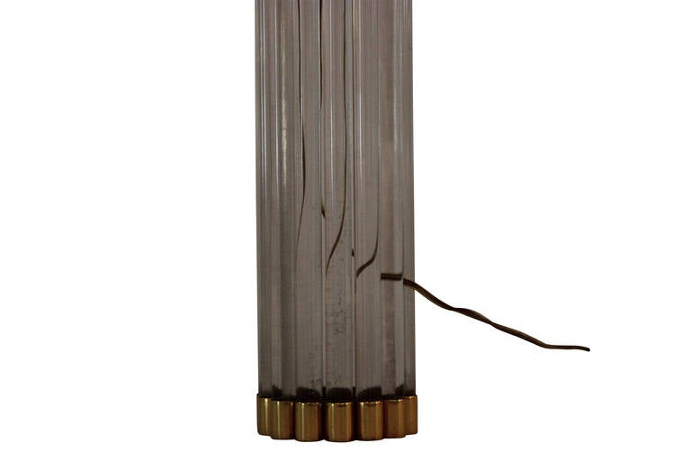 Mid-Century Modern Gabriella Crespi Table Lamp, signed, circa 1970, Italy. For Sale