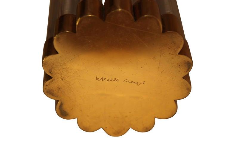 Italian Gabriella Crespi Table Lamp, signed, circa 1970, Italy. For Sale