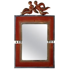 Decorative Ceramic Mirror by Georges Pelletier, France, Signed, circa 1960.