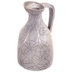 Pitcher of Accolay, Glazed Ceramic, Signed, circa 1970, France