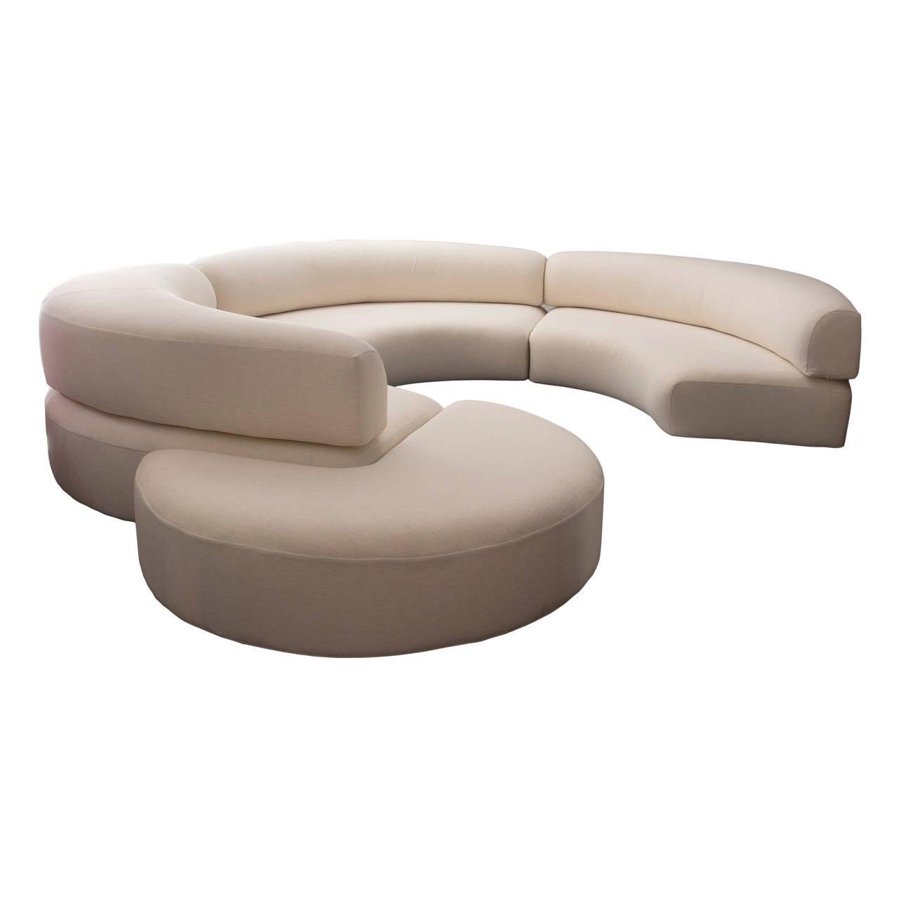 Ennio chiggio sofa model quotenviron zeroquot circa 1960 italy for Round sectional sofa set manufacturers