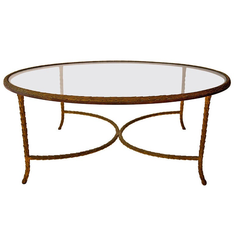 Maison Baguès, Coffee Table In Gilt Bronze, France Circa