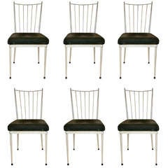 Set of Six Chairs in the Style of Bolette Natanson, Circa 1950, France.