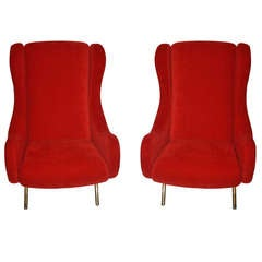 "Marco Zanusso, ""Senior"" pair of Armchairs, circa 1960, Italy."