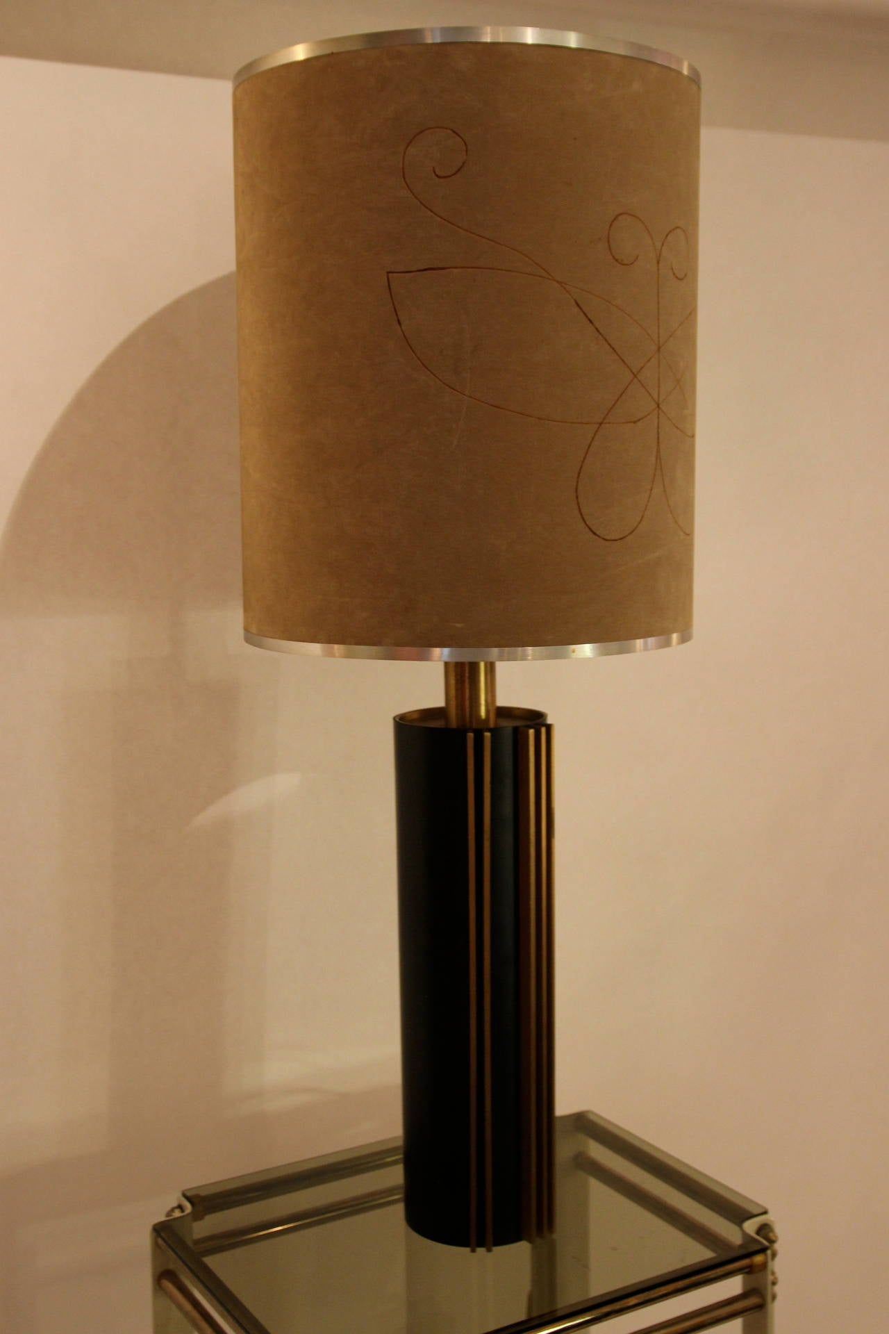 Mid-Century Modern Angelo Brotto Style Table Lamp circa 1970 Italy, Esperia Edition For Sale