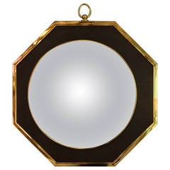 Oval Wall Mirror in the Style of Maison Jansen, circa 1970, France