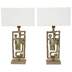 Angelo Brotto, pair of table lamps, Esperia Edition, circa 2000, Italy.