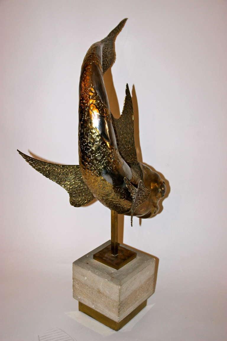 Late 20th Century Jacques Duval-Brasseur, Sculpture, Unique Piece, Signed, circa 1973, France For Sale