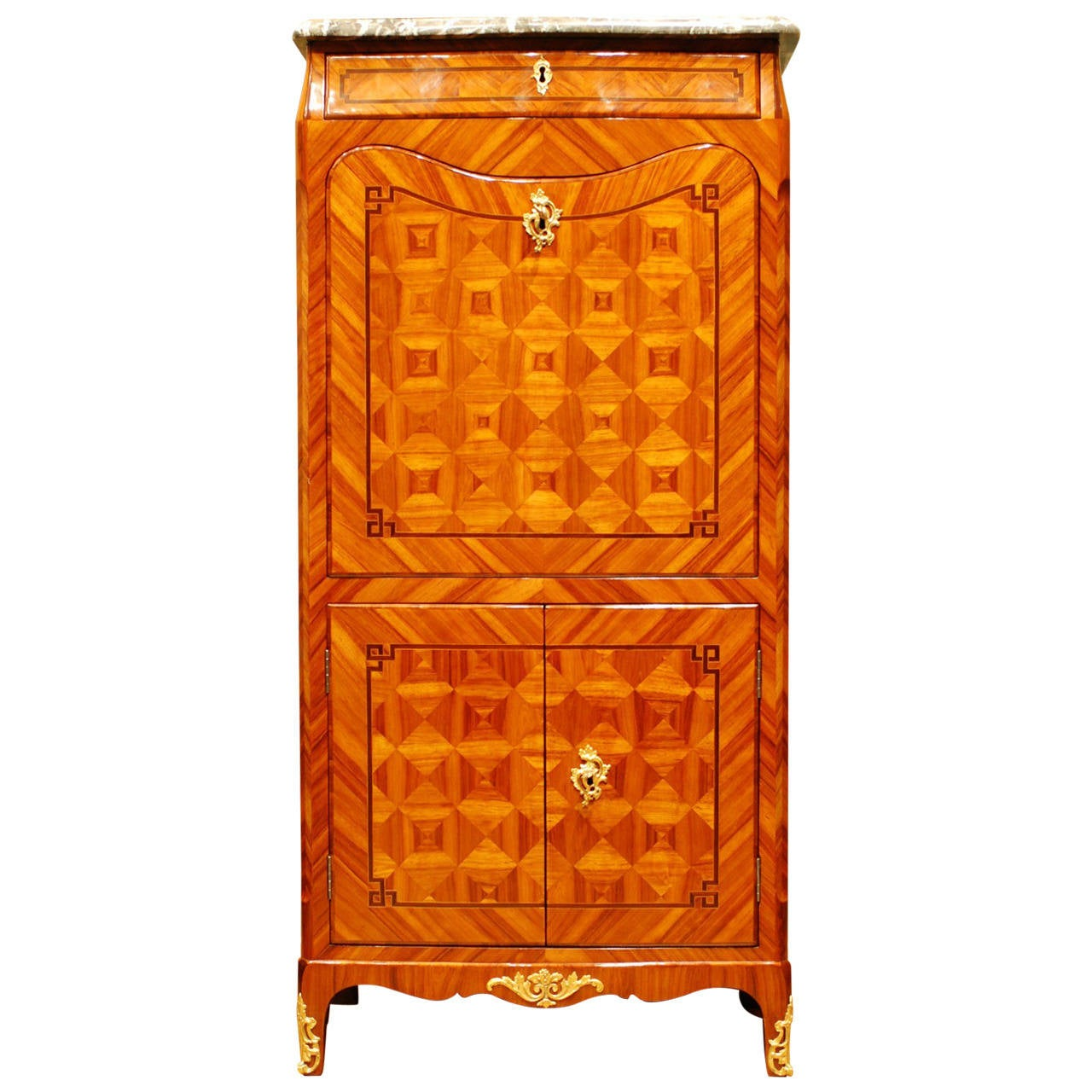 Transition louis xv to louis xvi bois de rose sec taire abattant at 1stdibs for Chambre bois de rose