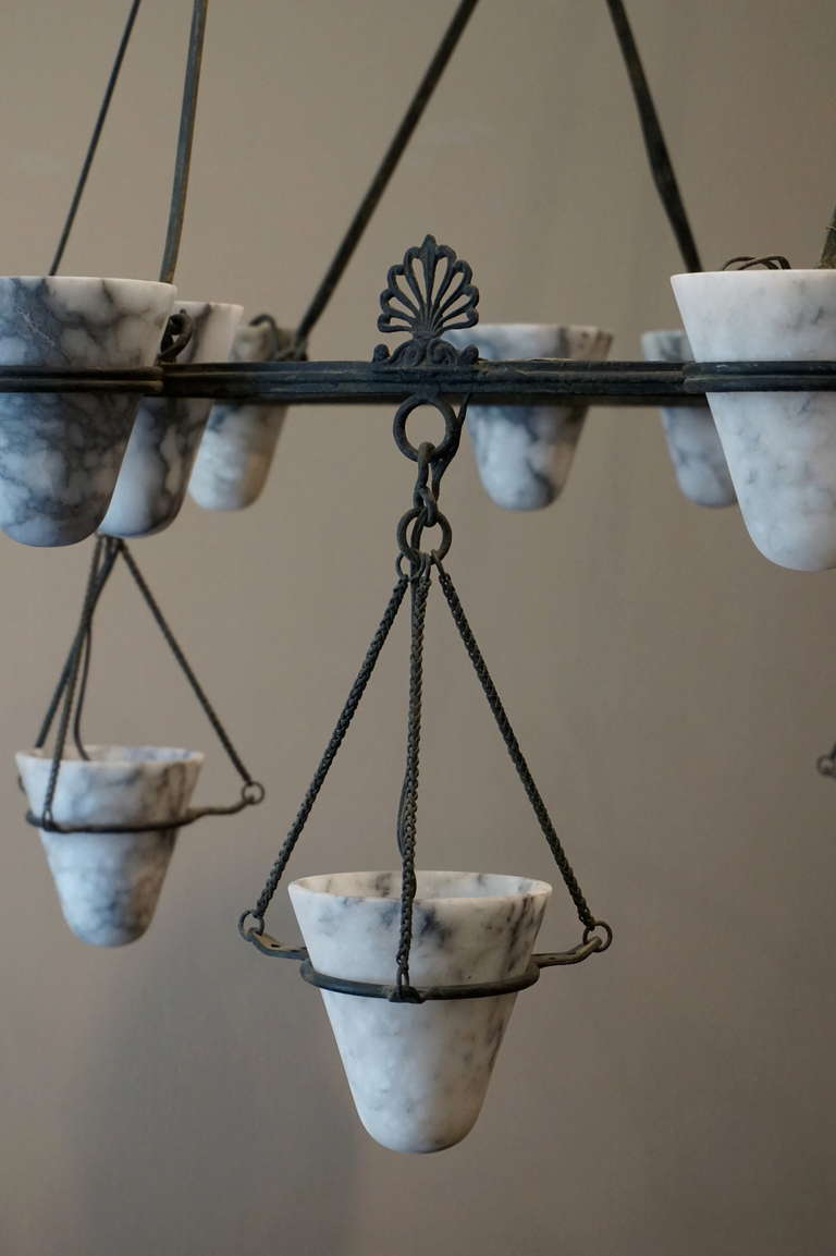 21th C Large Chandelier Neo Greek Edition At 1stdibs