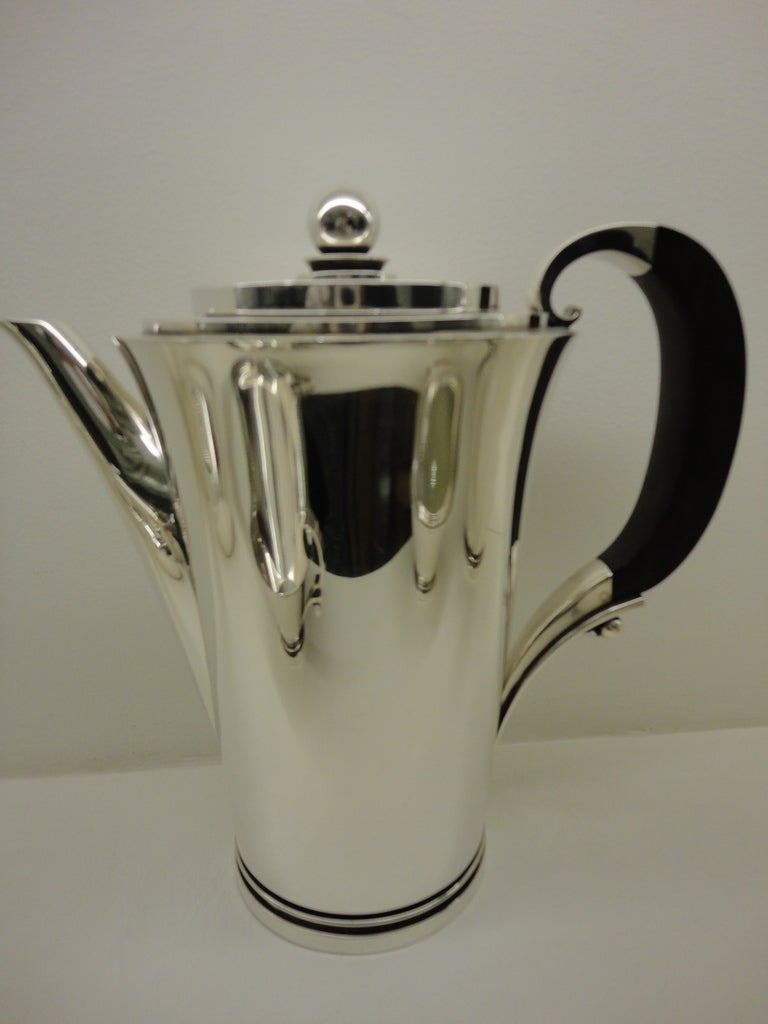 Mid-20th Century Vintage Georg Jensen Sterling Silver Pyramid Coffee And Tea Set For Sale