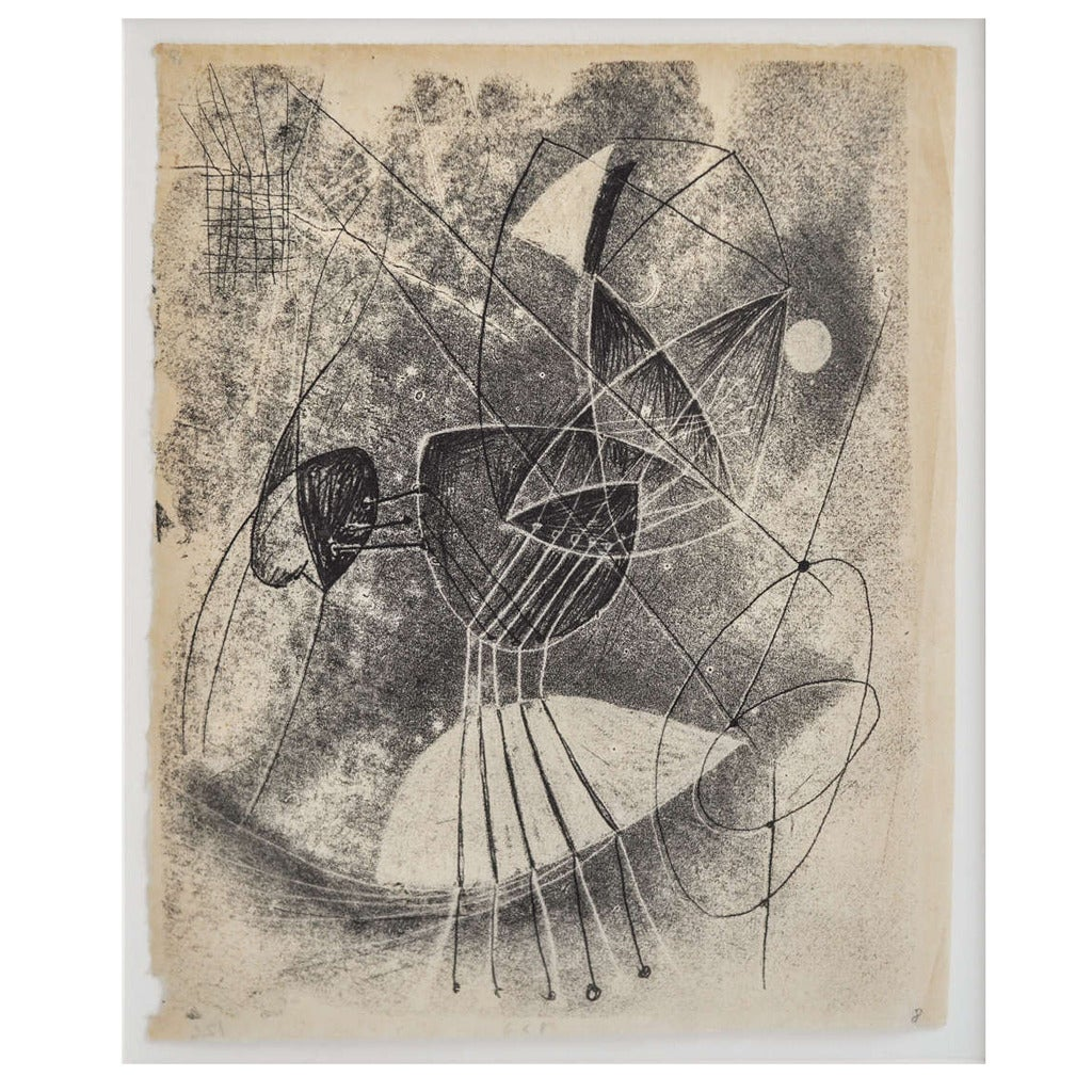 1940s Monotype by Harry Bertoia For Sale