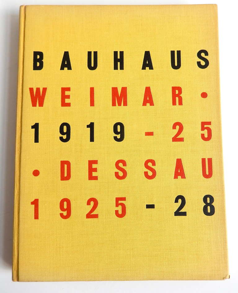 1st edition of a scarce hardcover catalogue of an important exhibition on the Bauhaus at The Museum of Modern Art in New York in 1938. This rare and informative monograph was edited by Herbert Bayer, Walter Gropius and Ise Gropius.  It includes many