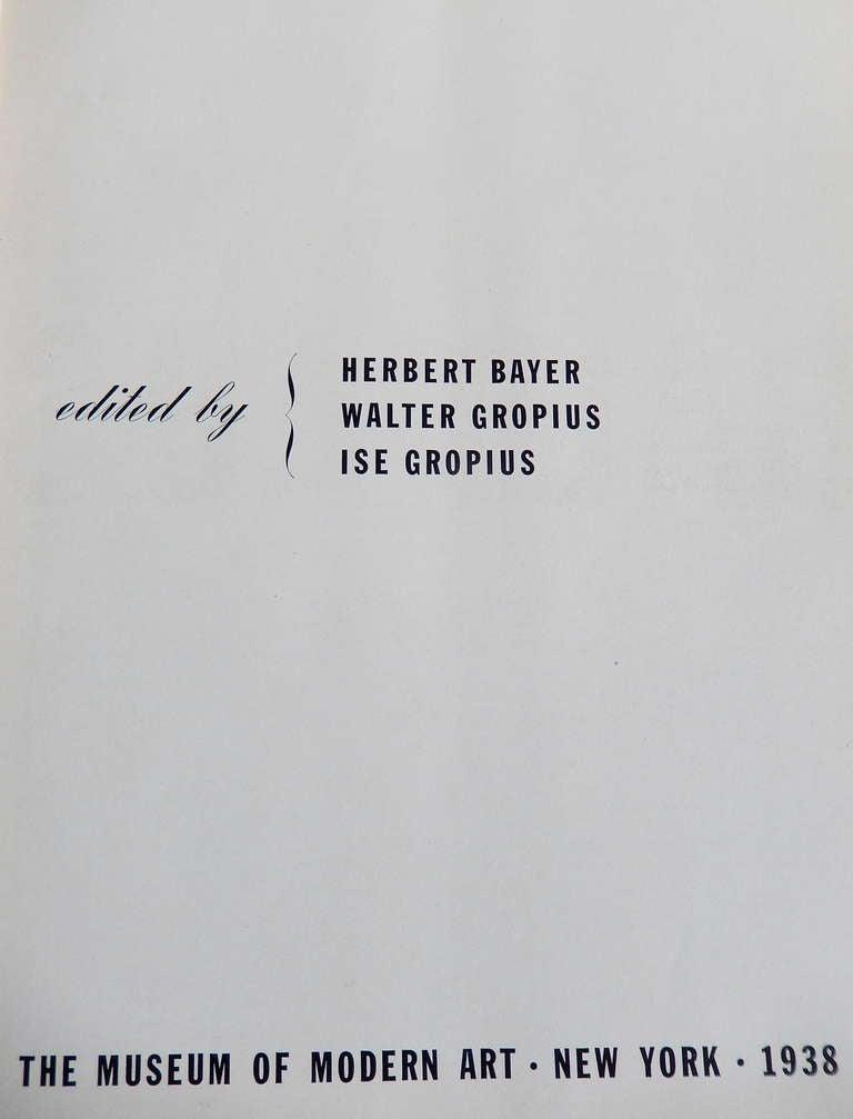 Bauhaus 1919-1928 1st Edition MOMA Exhibition Catalogue, 1938 For Sale 1