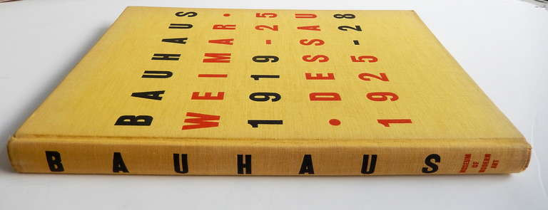 Mid-20th Century Bauhaus 1919-1928 1st Edition MOMA Exhibition Catalogue, 1938 For Sale