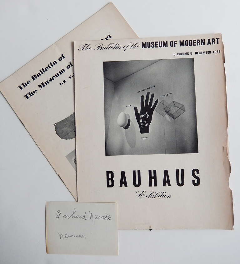 Bauhaus 1919 1928 1st Edition Moma Exhibition Catalogue