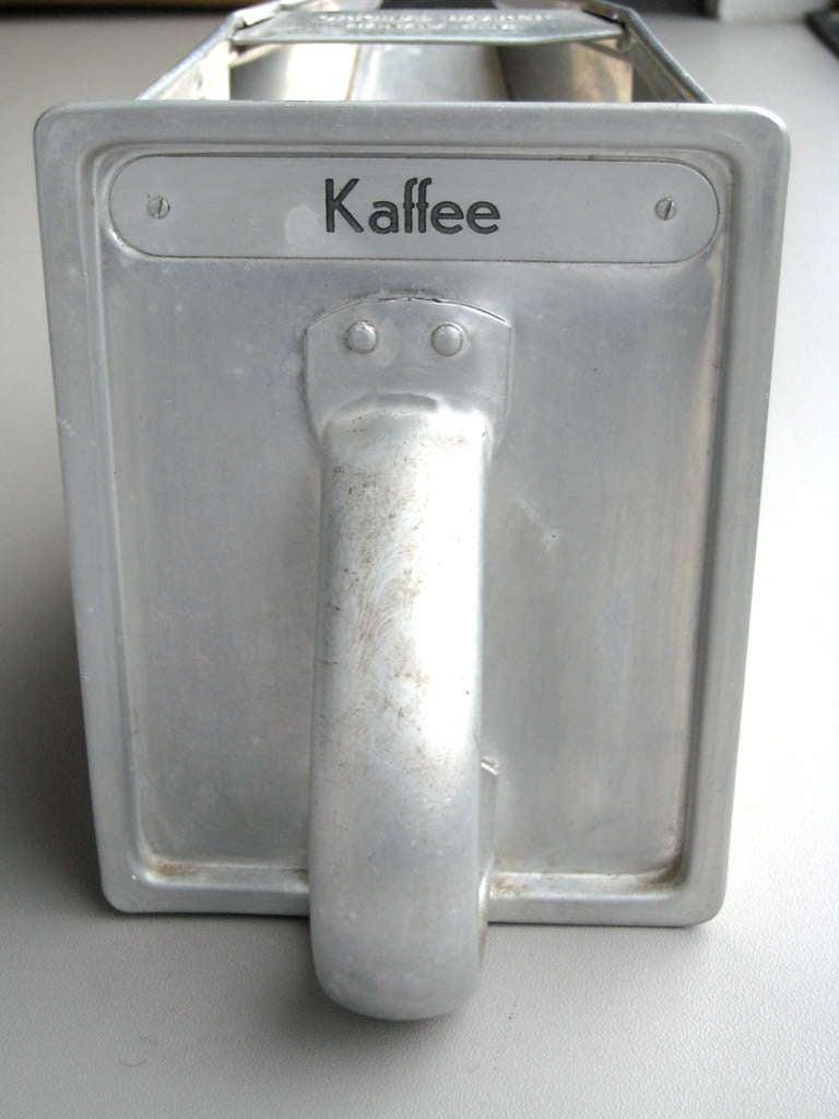 Aluminum Modern Storage Bins from the 1926 Frankfurt Kitchen/Bauhaus For Sale