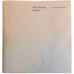 Harry Bertoia Sculptor, 1970 Monograph Inscribed by Bertoia