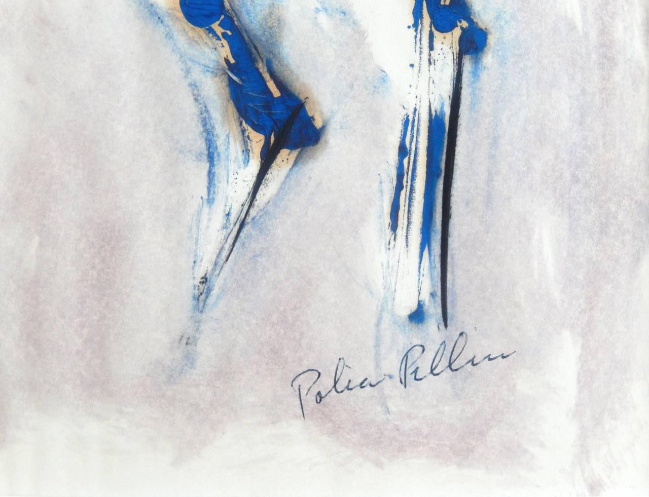 Mid-20th Century Polia Pillin Watercolor,