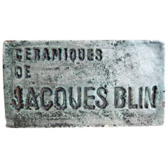 Rare Jacques Blin Ceramic Display Sign