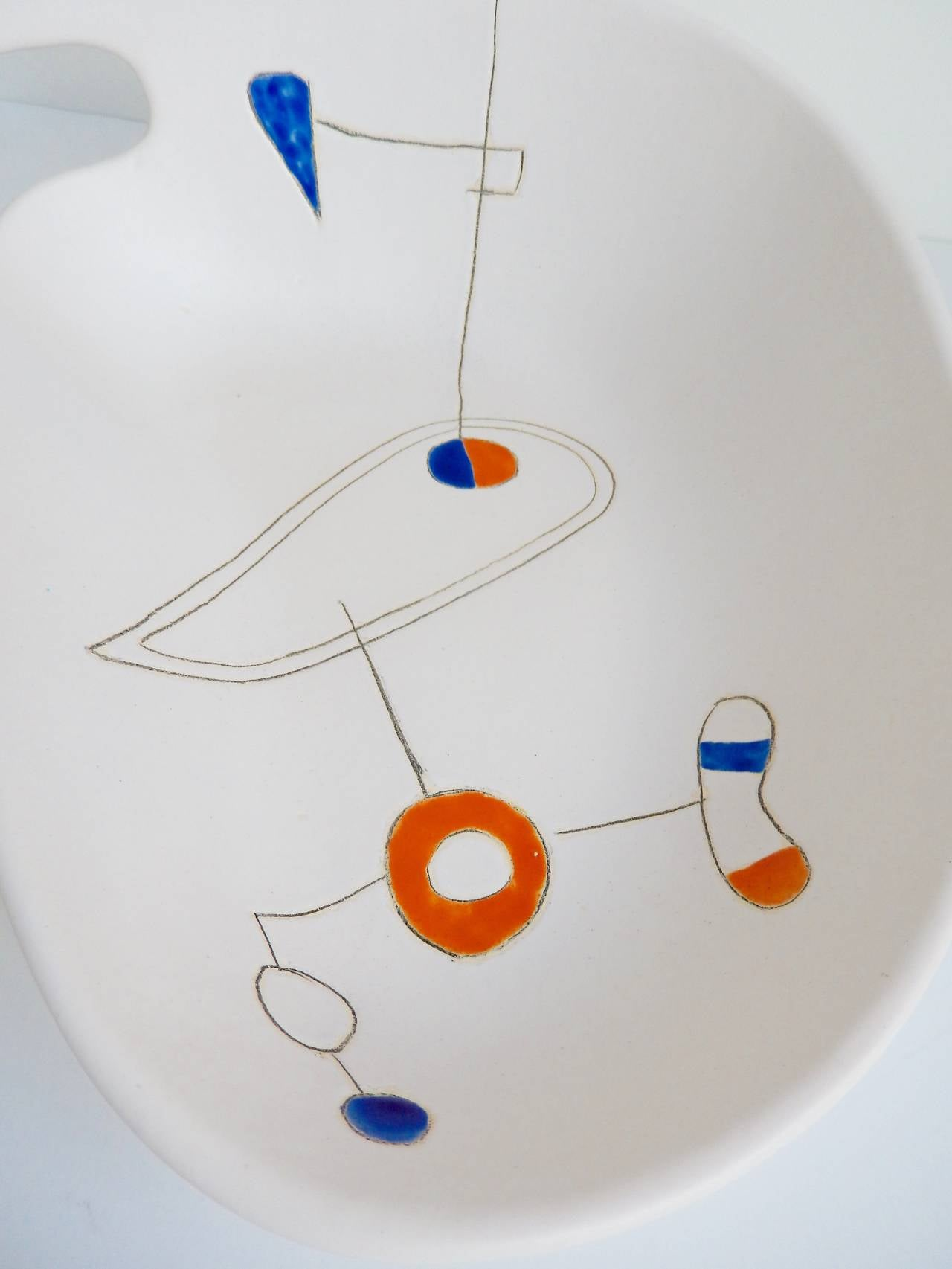Mid-Century Modern Ceramic Bowl by Peter Orlando In Excellent Condition For Sale In Winnetka, IL
