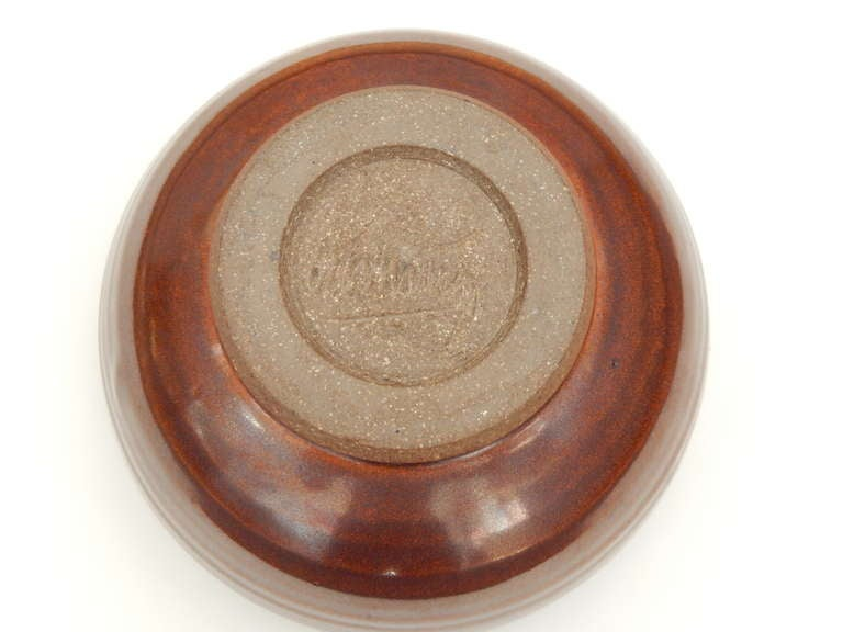 20th Century Ceramic Bowl by Val Cushing For Sale