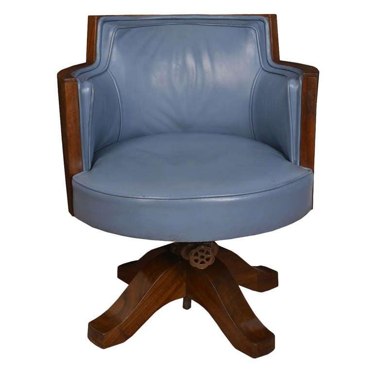 art deco mahogany framed office chair at 1stdibs art deco mahogany framed office chair