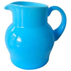Blue Glass Pitcher by Erik Hoglund