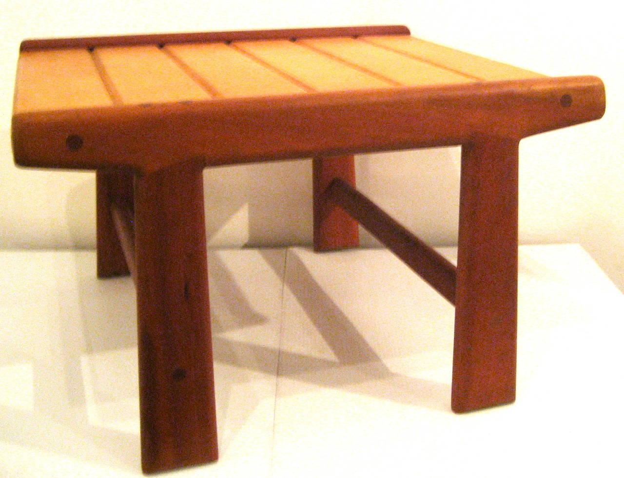 Danish Modern Noguchi Style Low Japanese Bench Or Stool At